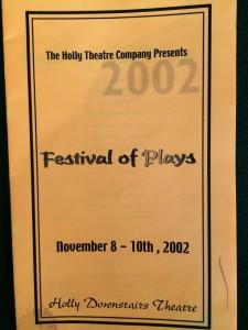 In the Falling Dark - festival of plays program
