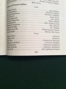 Anne of Green Gables cast list