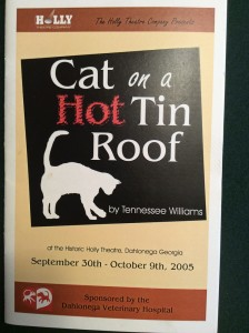 cat-on-a-hot-tin-roof-playbill