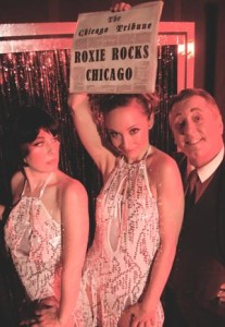 The criminal cast of The Holly Theatre's production of Chicago includes, from left, Heatherly Nelson as Velma Kelley, Stefanie Clouse as Roxie Hart and John Certusi as Billy Flynn. To read a review of the play click on the A&E link. (Staff photo by MATT AIKEN)