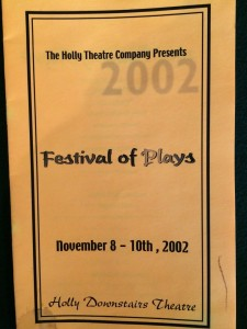 In the Falling Dark - festival of plays program