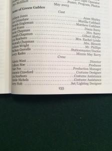 Anne of Green Gables cast list